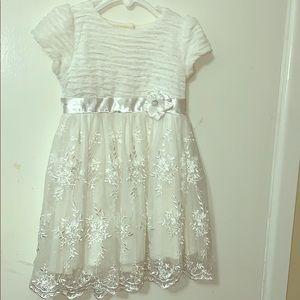 White toddler dress.